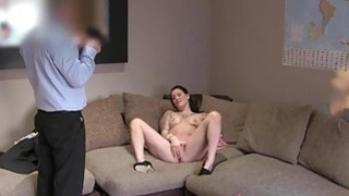 Tattooed Brit ass and cunt banged in casting Preview Image