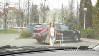 Teen hitchhiker sucks_and fucks in a car Preview Image