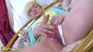 OldNannY Hot Mature Playing Alone With Herself Preview Image