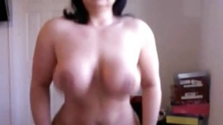 Brunette Busty milf_deep riding dildo on_webcam Preview Image