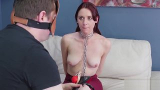 Stephanie's extreme blowjob xxx slave girl and black hard rough sex Preview Image