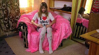 Sweet teen with hairy_pussy home alone Preview Image