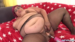 A Fucking Machine Gives Fat Floozy Veruca Darling an Intense Orgasm Preview Image
