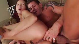 Sucking and getting ass fucked by her hunk Preview Image