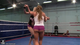Angel Long and Chaty_Heaven in lesbo wrestling Preview Image