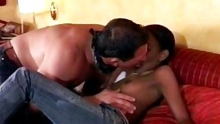 Petite African getting pounded_hard by_a big white cock Preview Image