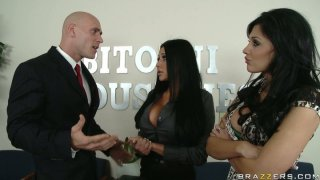 Busyness meeting ends up with threesome Audrey Bitoni & Aletta Ocean Preview Image