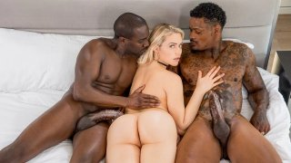 College blonde slut in an interracial threesome Preview Image
