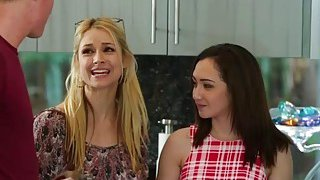Hot neighbors Lily and Sarah in a hot threesome sex Preview Image