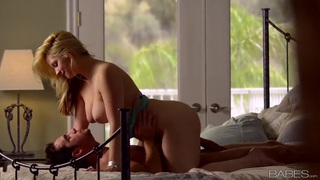 Stacked blondie Sarah Vandella and her BF fuck in the morning Preview Image