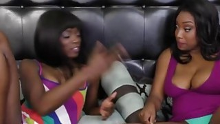 Ebony bitches eating each other pussies and having joyful sex Preview Image