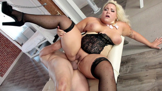 Plus-size blonde Jade Rose gets her fat pussy slammed Preview Image
