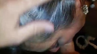 Chubby wife Deepthroating her hubby Preview Image