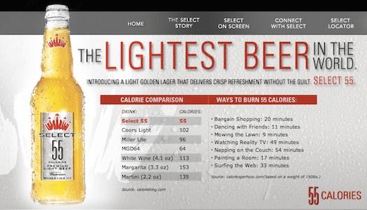 Diet Beer Budweiser Debuts The Worlds Lightest Beer PSFK