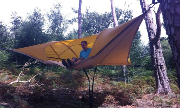 Tents For Backpackers Hang From Trees Like Hammocks