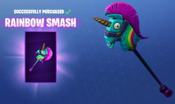 Rainbow Smash Pickaxe Nu Beschikbaar In Fortnite PSX Sense