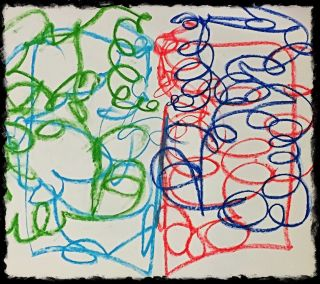 Bilateral Scribble Drawing from collection of Cathy Malchiodi