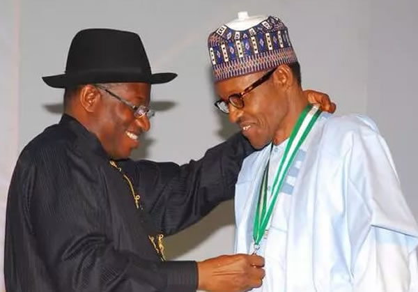 Image result for I'm not responsible for Buhari government incompetence – Jonathan
