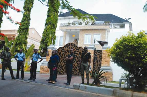 Image result for There's a plot to kill me, Melaye says as police lay siege to home