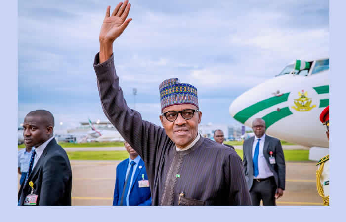Image result for Buhari returns to Abuja from Netherlands
