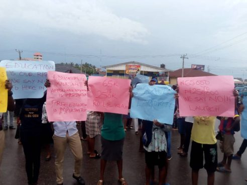 Image result for lautech protest punch
