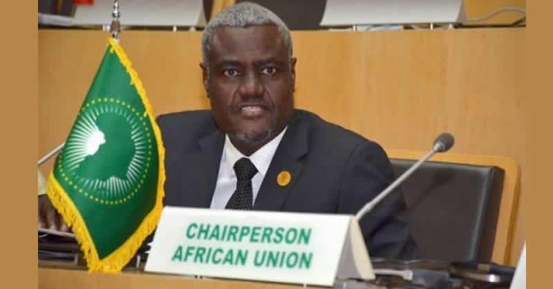 Chairperson of African Union Commission Mr. Moussa Mahamat - AU chief congratulates Tunisia for a successful 2nd round presidential election