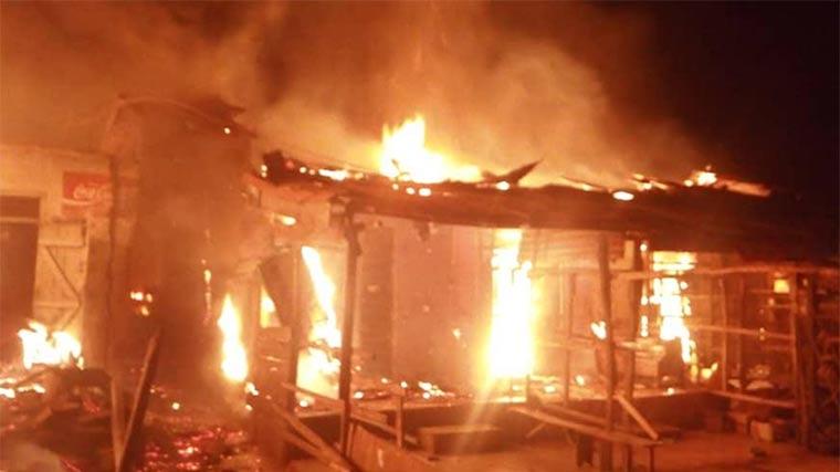 Fire Razes Sabo Market In Sagamu