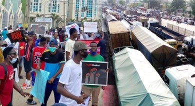 End SARS: Protests paralyse activities in Abuja, Lagos, Enugu, others