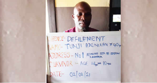 Lagos butcher,Tunji Adeniran arrested for Raping two stepdaughters