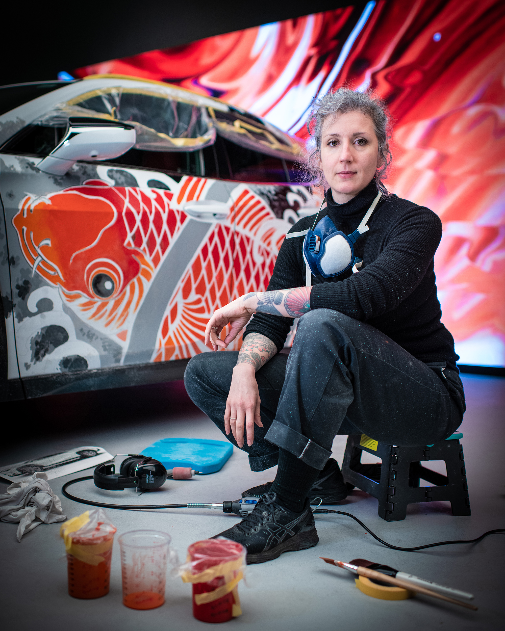 Lexus Unveils The World's First Tattooed Car