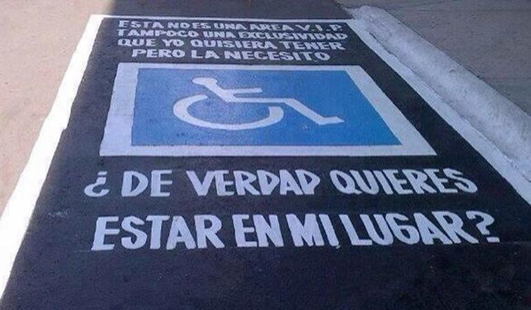Plazas reservadas para discapacitados en espacios privados
