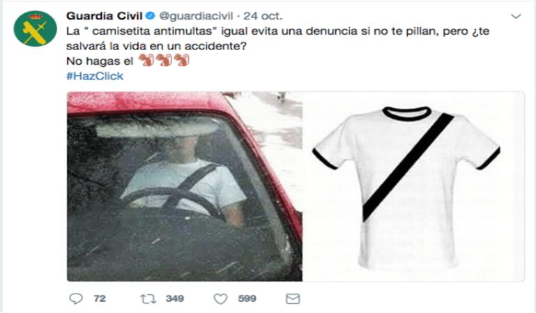 La camiseta anti multas