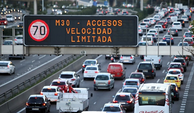 Se activa el protocolo anticontaminación en Madrid