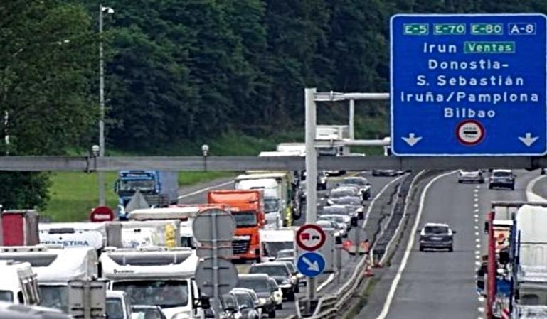 Vuelven las restricciones a camiones en el País Vasco