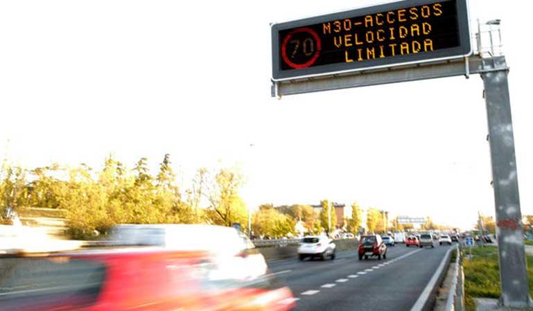 Madrid vuelve a restringir velocidad en la M-30