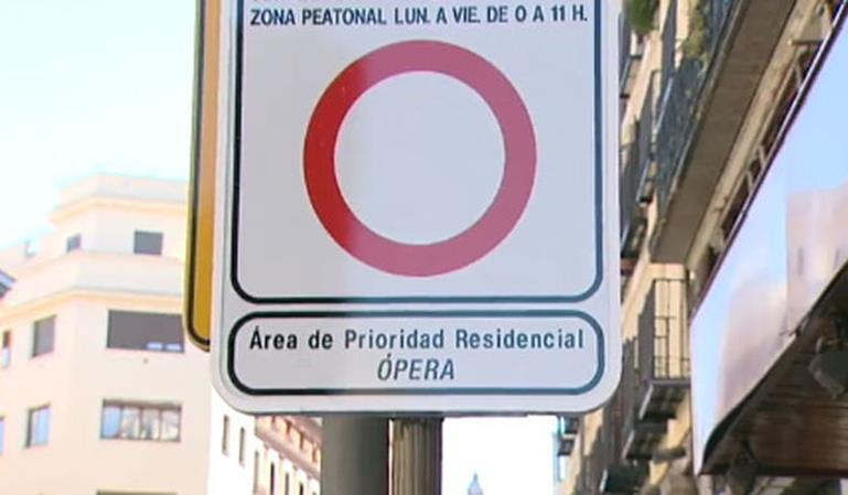 Multas aplazadas en el barrio de Ópera de Madrid