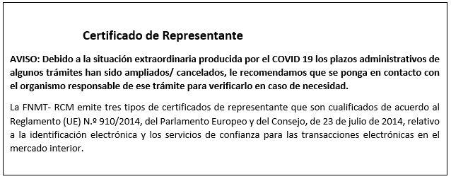 FNMT certificados digitales