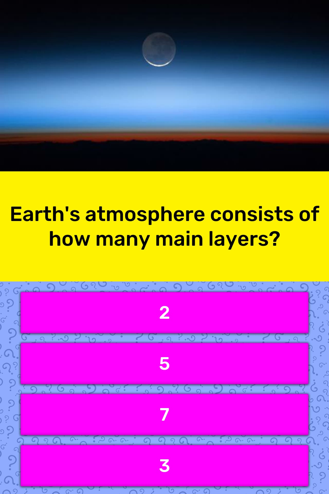 Earth S Atmosphere Consists Of How