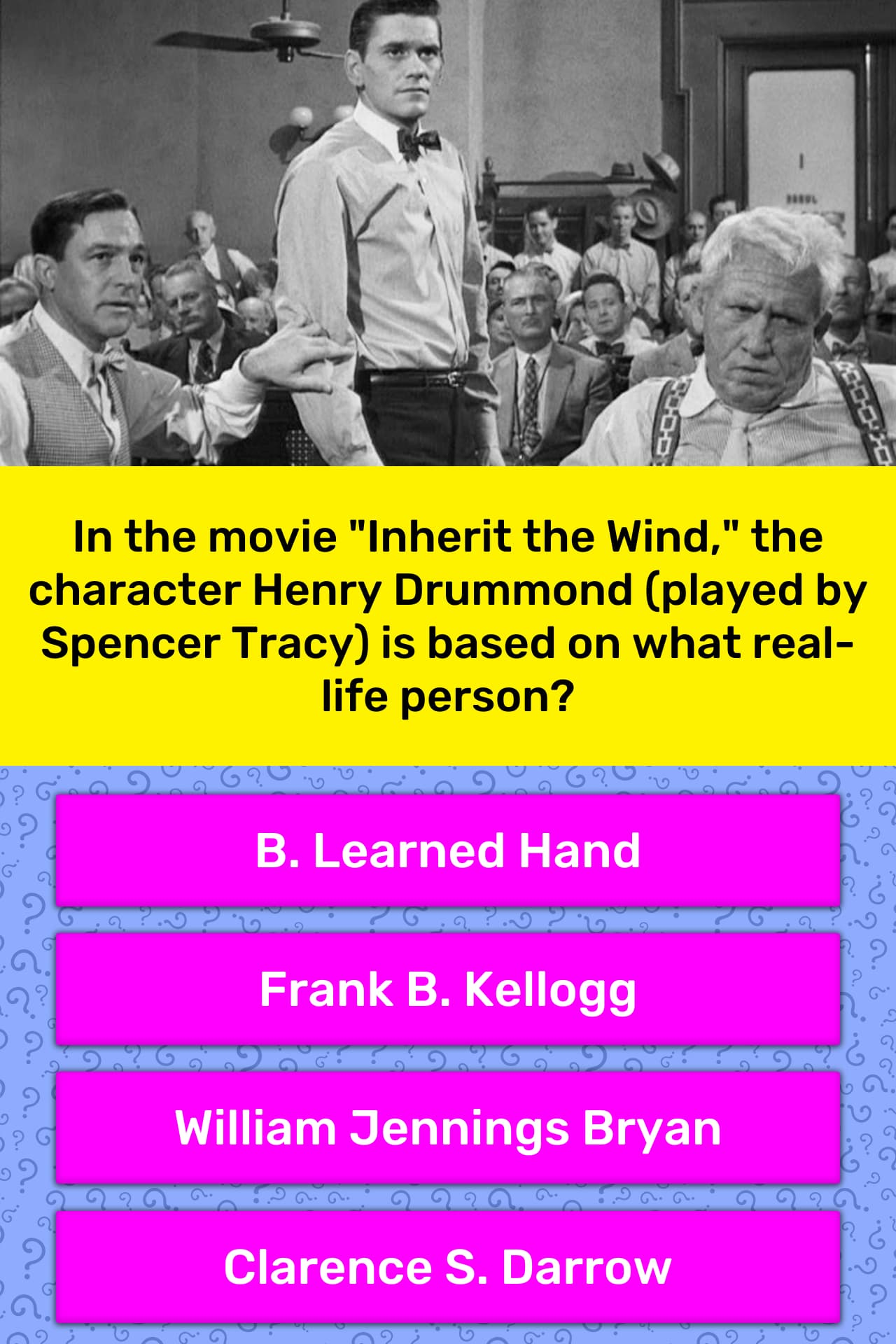 In The Movie Inherit The Wind The
