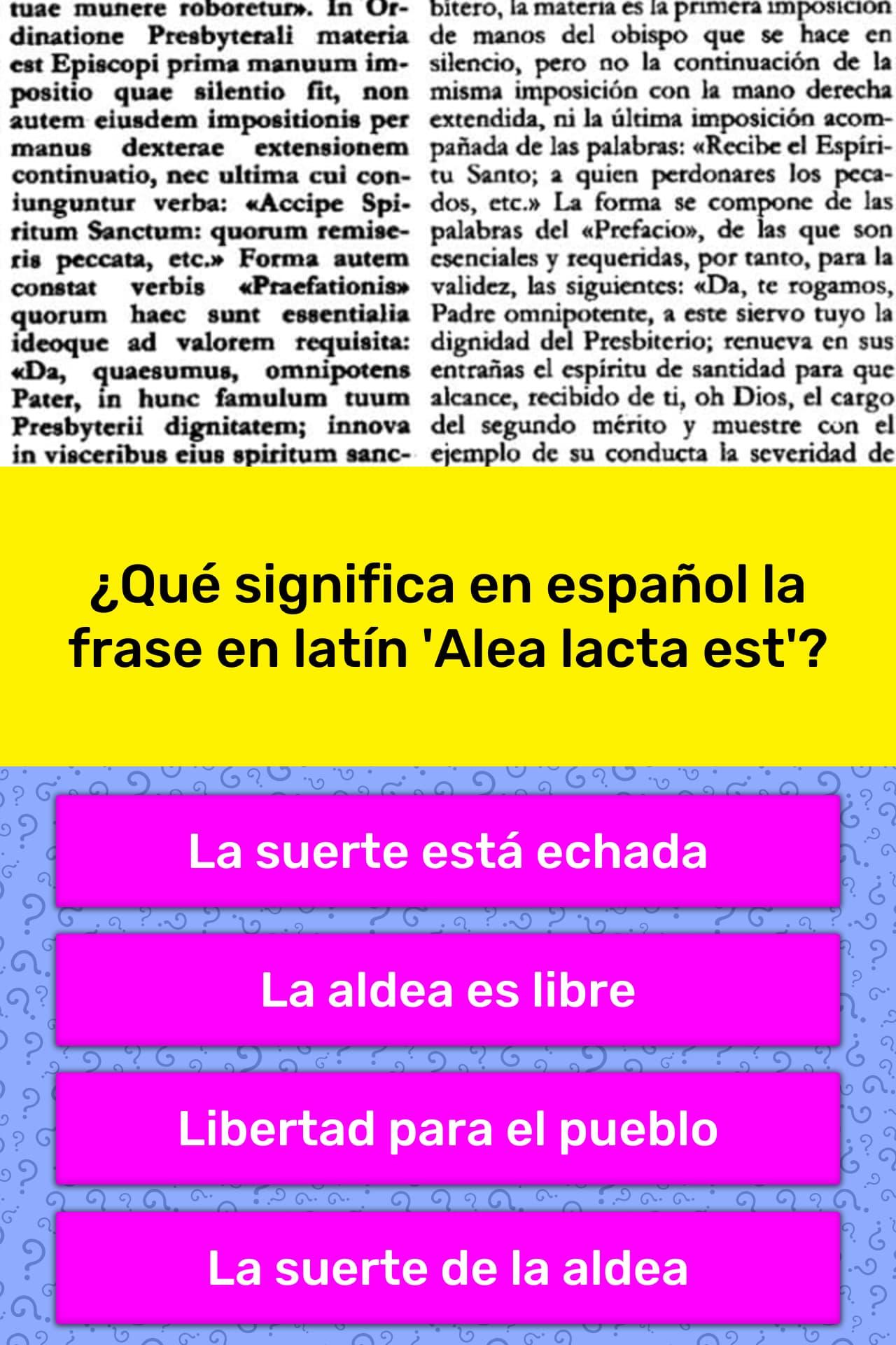 Que Significa En Espanol La Frase