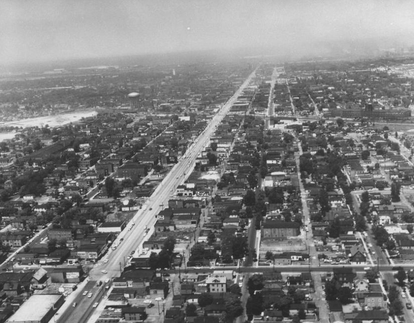 Aerial view of Gary, Indiana