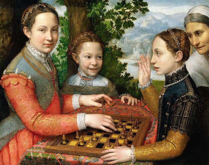 Sofonisba Anguissola (1532-1625), La partie d'échecs, 1555 (musée national de Poznań)