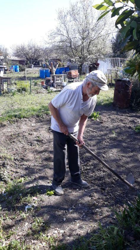 Brahim, jardine aux vertus depuis 30 ans. Aubervilliers (93), avril 2020