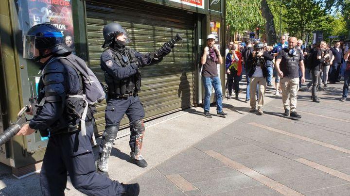 Manifestation à Toulouse, avec intervention des CRS (illustration).