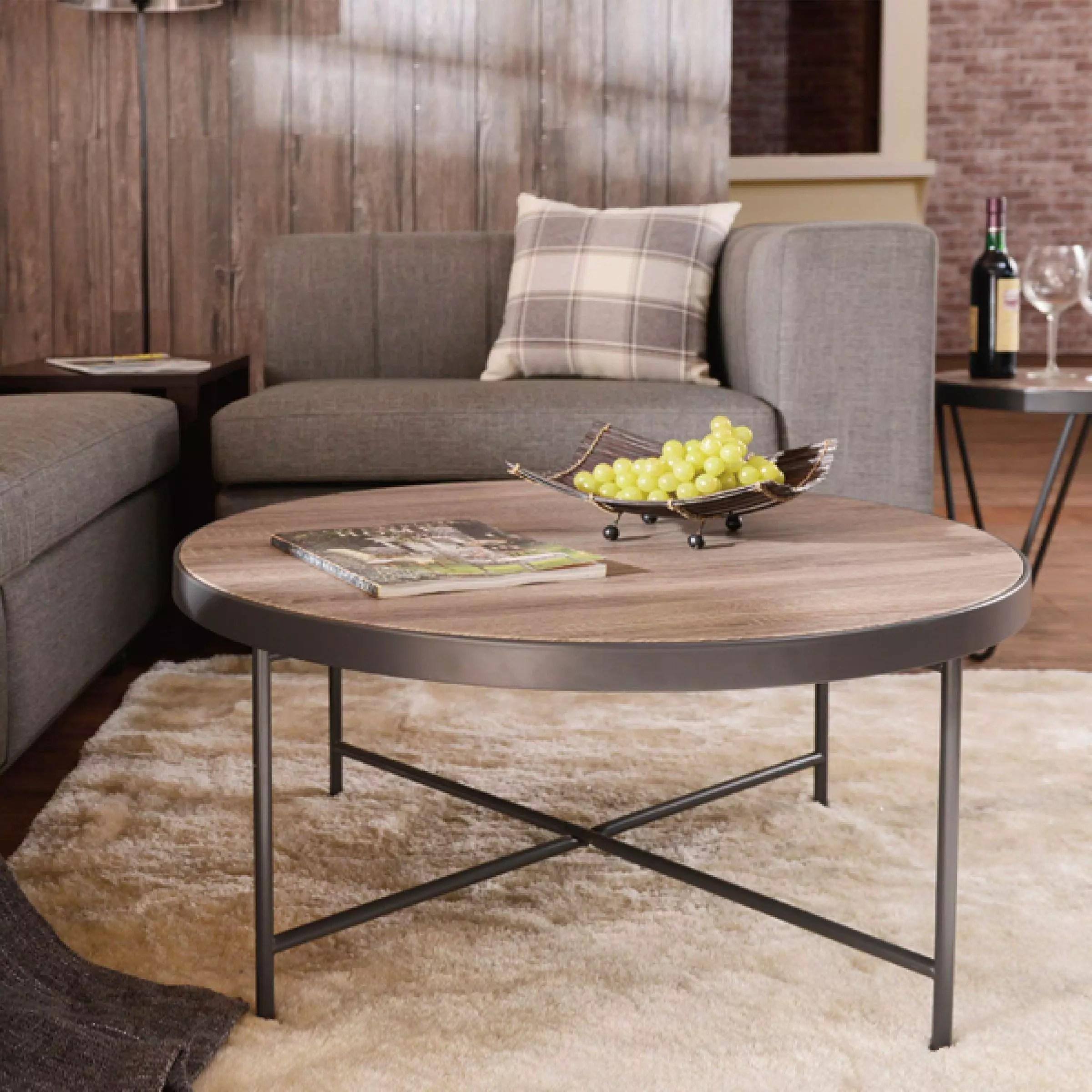 grey metal frame coffee table safe