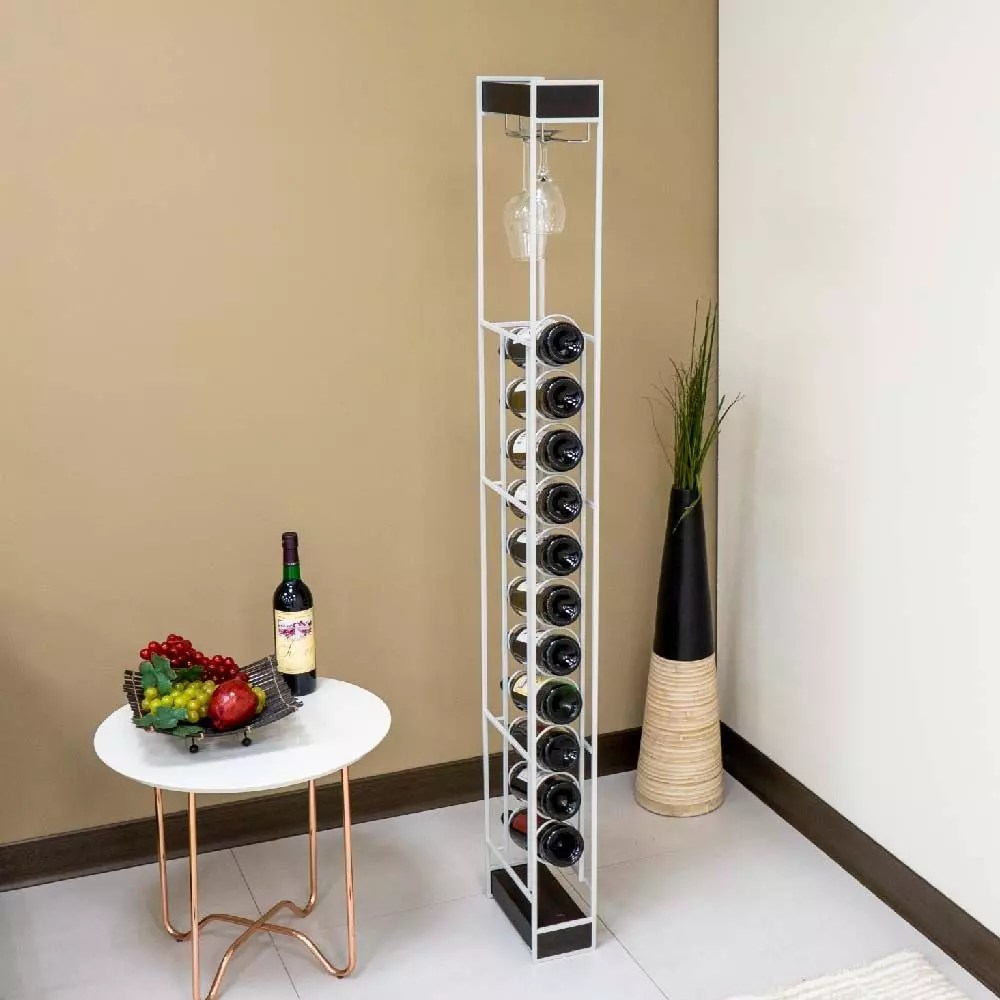 hanging wine glasses round iron upright