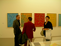 Udo Breger, Ramuntcho Matta, and Alice Marquaille at Gysin Exhibit