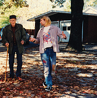Image of Kurt Cobain and William Burroughs