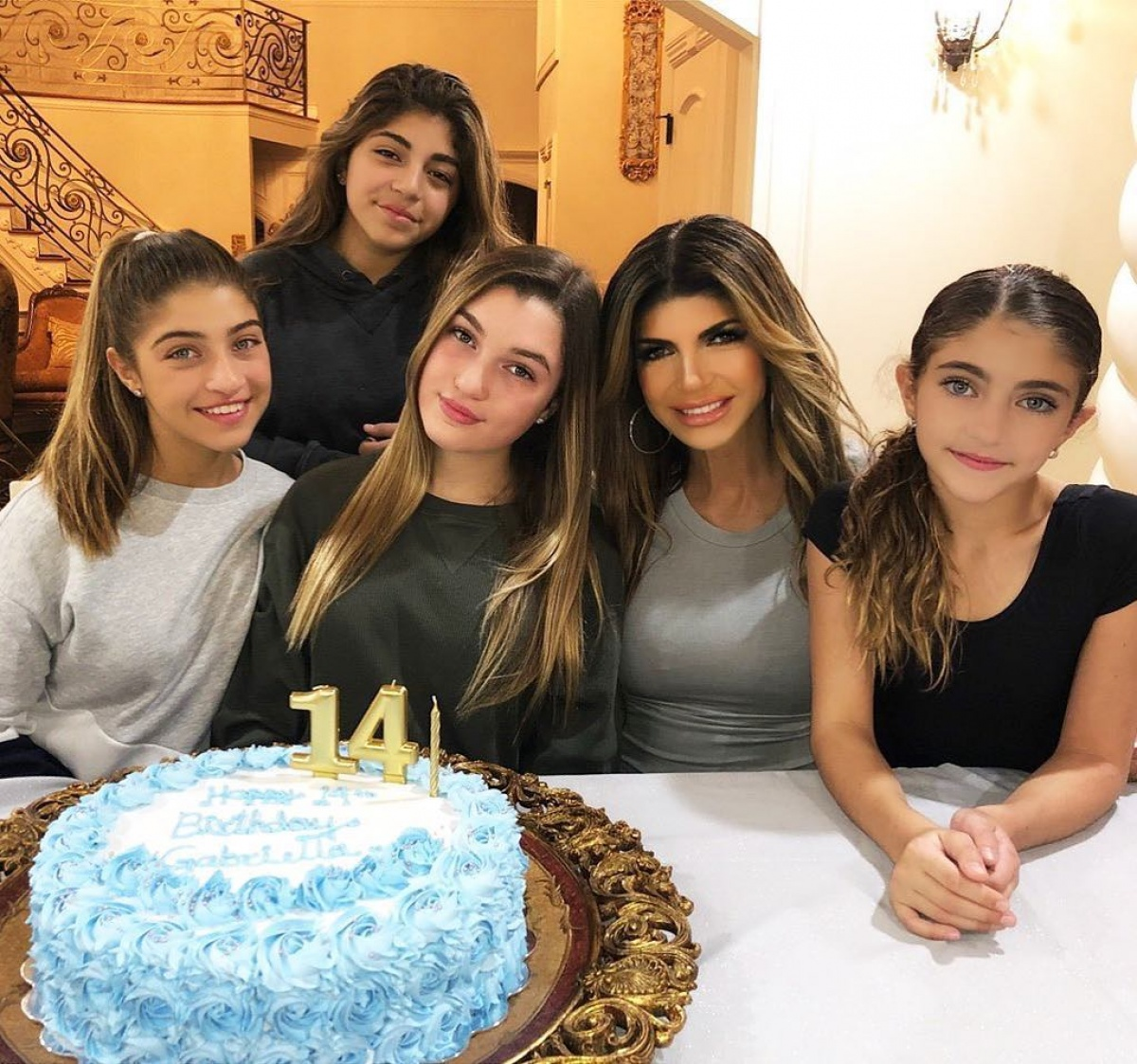 Joe Giudices Daughters Gia And Milania And Wife Teresa