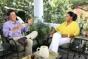 Stephen Colbert and Oprah